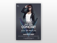 The Concert Party - Free PSD Flyer Template