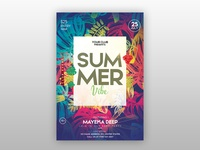 Summer Vibe Free PSD Flyer Template