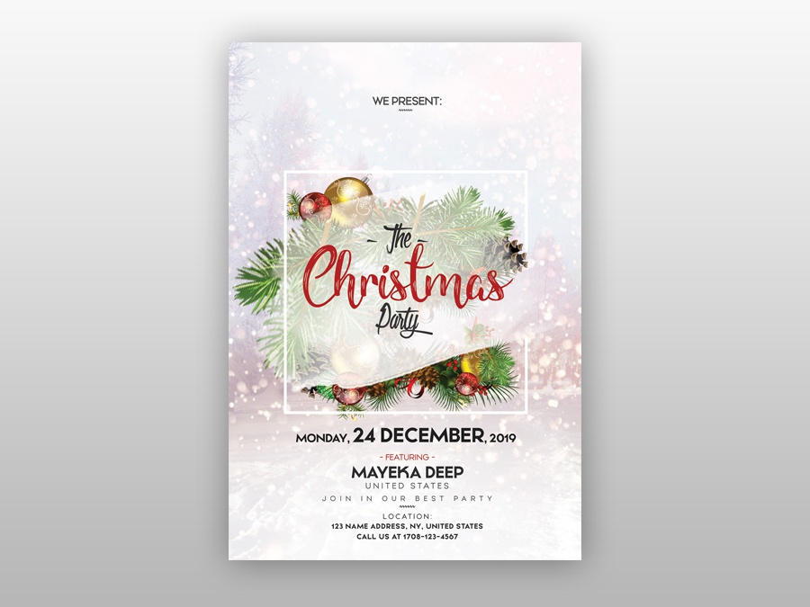 The Christmas Party Free Psd Flyer Template By Pixelsdesign Net