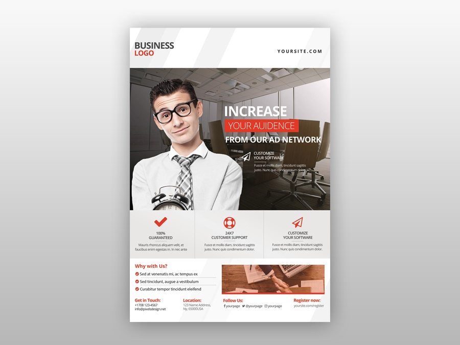 business corporate free psd flyer template by pixelsdesign net