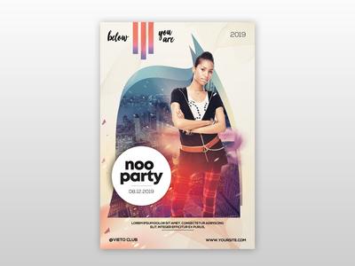 Noo Party - Futuristic PSD Flyer Template