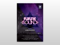Future Sound - Futuristic Free PSD Flyer