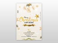 Merry Christmas - Invitation and Flyer Free PSD