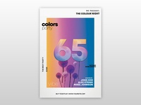 Color Party Free PSD Flyer Template