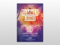 Summer Lounge - Free PSD Flyer Template