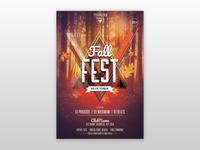 Fall Fest - Autumn Free PSD Flyer Template