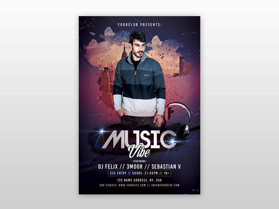 music vibe free psd flyer template free psd flyers freebie psd flyer design free club