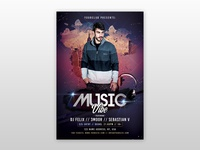 Music Vibe - Free PSD Flyer Template