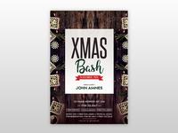 X-Mas Bash Free PSD Flyer Template