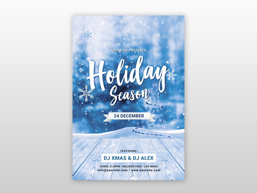 Holiday Christmas Free Psd Flyer Template By Pixelsdesign