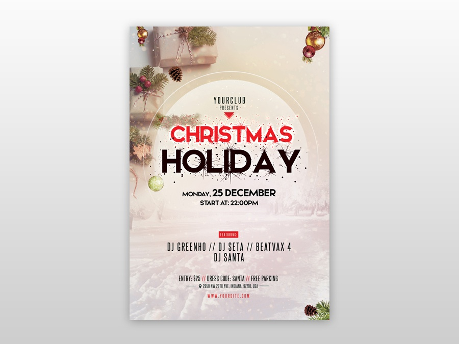 Merry Christmas Free Psd Flyer Template By Pixelsdesign
