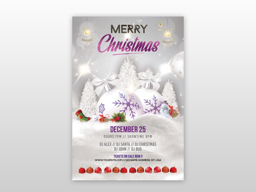 Merry Christmas Images Free.Merry Christmas 2018 2019 Free Psd Flyer Template By