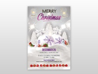 Merry Christmas 2018-2019 Free PSD Flyer Template