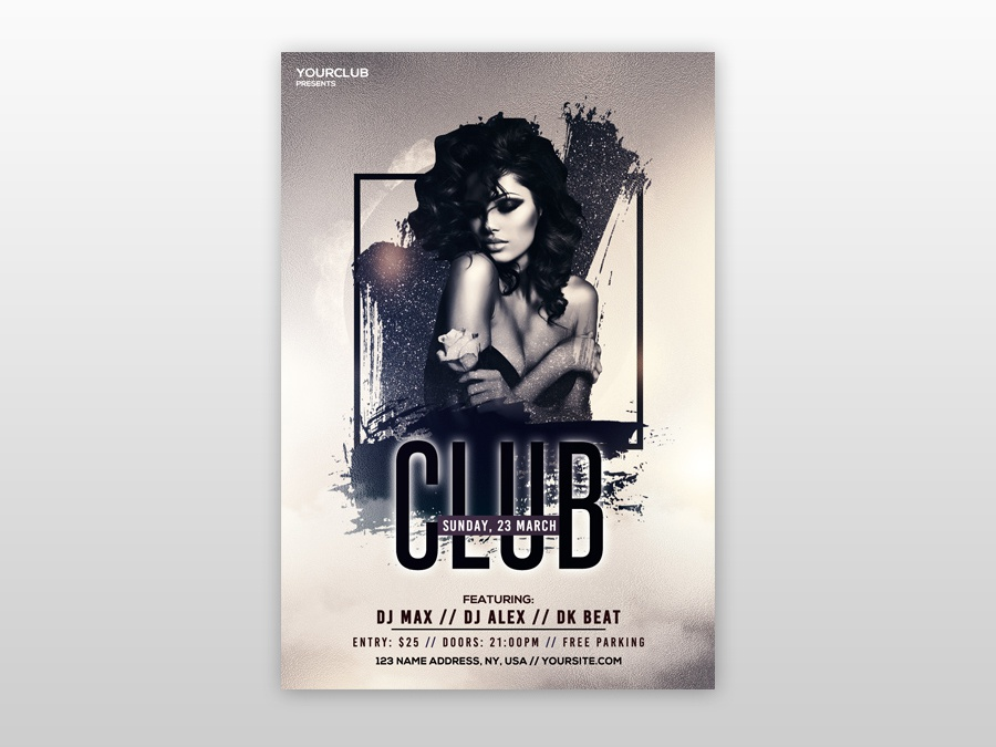 Club Vibe Free PSD Flyer Template by Pixelsdesign net on