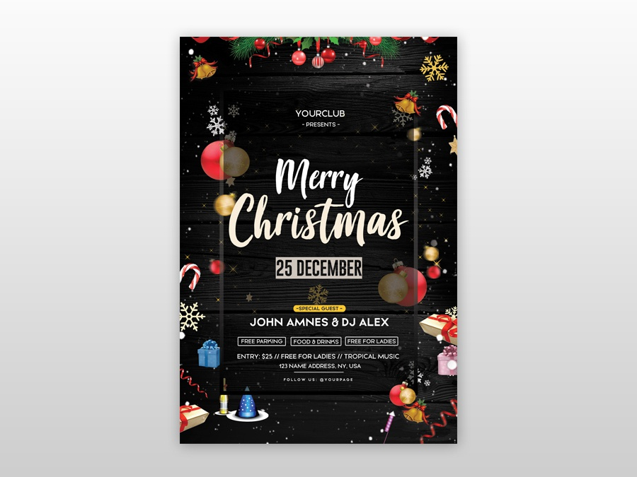 christmas event free psd flyer template by pixelsdesign net