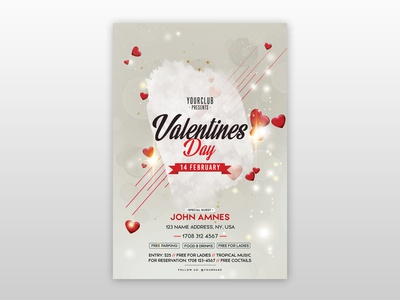 Free Valentine's Day PSD Flyer Template free flyers psd flyer template valentines day free flyer free flyer flyer free valentines