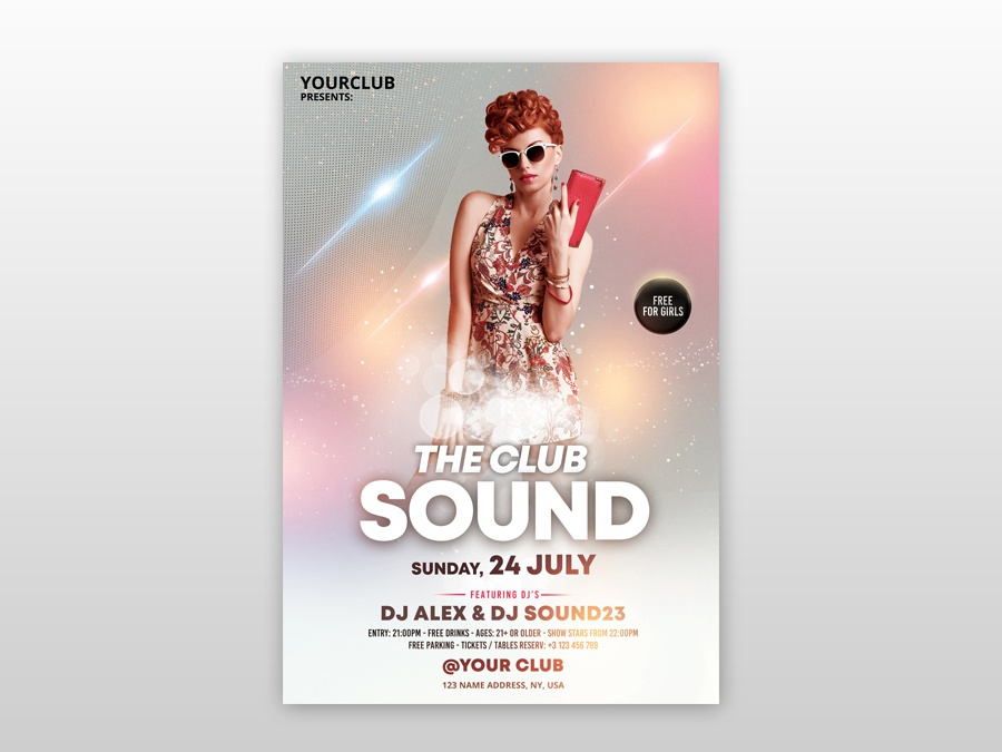 The Club Sound Psd Free Flyer Template By Pixelsdesign Net On Dribbble