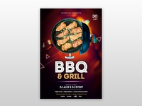 BBQ & Grill – Free PSD Flyer Template