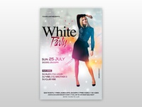 Elegant White Party Free PSD Flyer Template