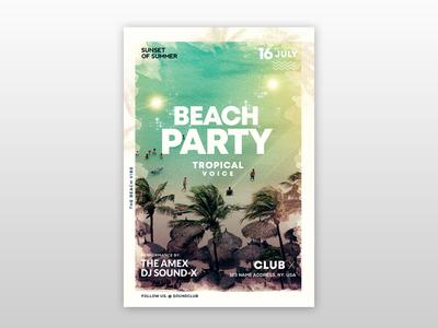 Beach Vibe – Summer Free PSD Flyer Template