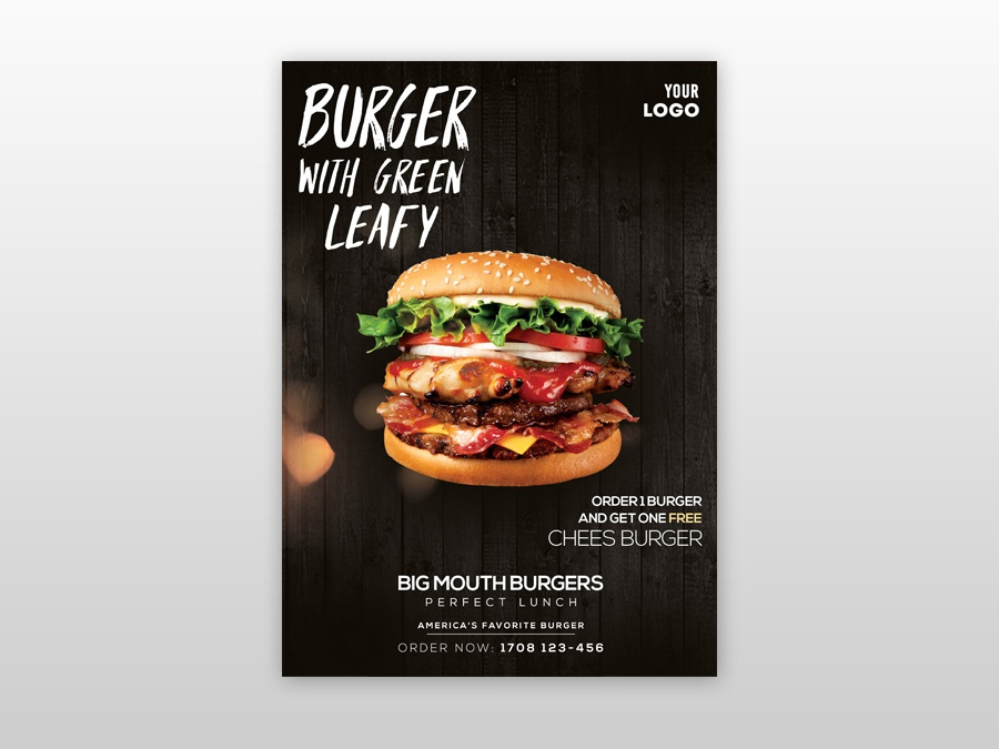 Burger ad flyer
