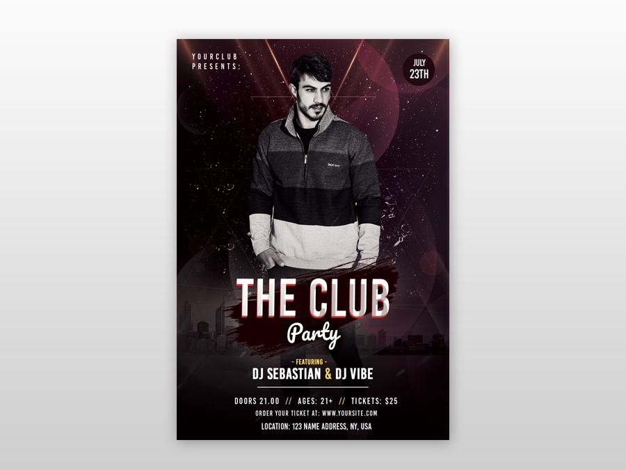 the Club Party PSD Free Flyer Template dj flyer club freebie flyers free flyer psd flyer poster flyer