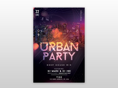 Urban Party PSD Free Flyer Template urban flyers template free flyers psd flyer template party flyer event flyer club flyer psd flyer poster flyer
