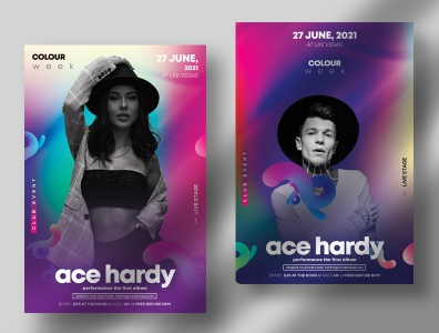 Color Week PSD Flyer Template brand fashion flyers fashion club flyer poster design psd poster poster flyers design flyers flyer design event flyer psd