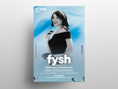 Color Week PSD Free Flyer Template design psd template fashion flyer free psd flyers freebie template flyers graphic psd flyer poster flyer