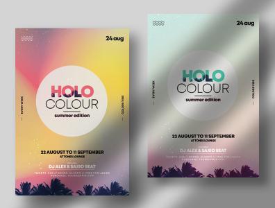 Holo Summer PSD Flyer Templates summer flyers graphic design psd flyers event flyer psd template flyer design poster flyers