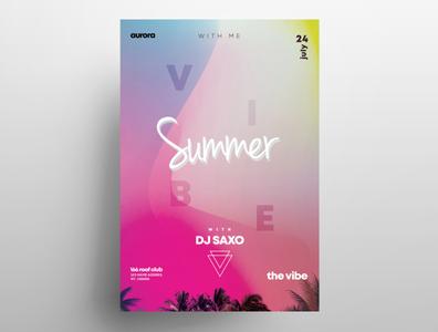 Summer Vivid Free Colorful PSD Flyer Template freebie flyers summer flyer event flyer poster design flyers design graphic free flyer psdflyer poster flyer