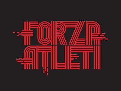 forza atleti atletico madrid custom type football soccer lettering type