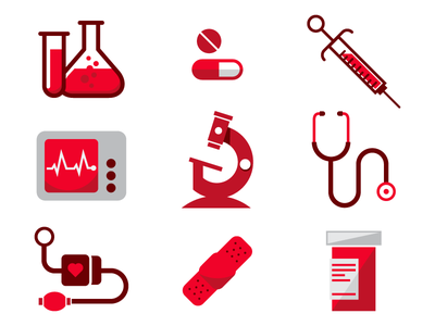 Medical Icons icon illustration medical medicine health science bandage doctor infographic