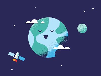 Solar System print kids plaets solar system illustration space print art