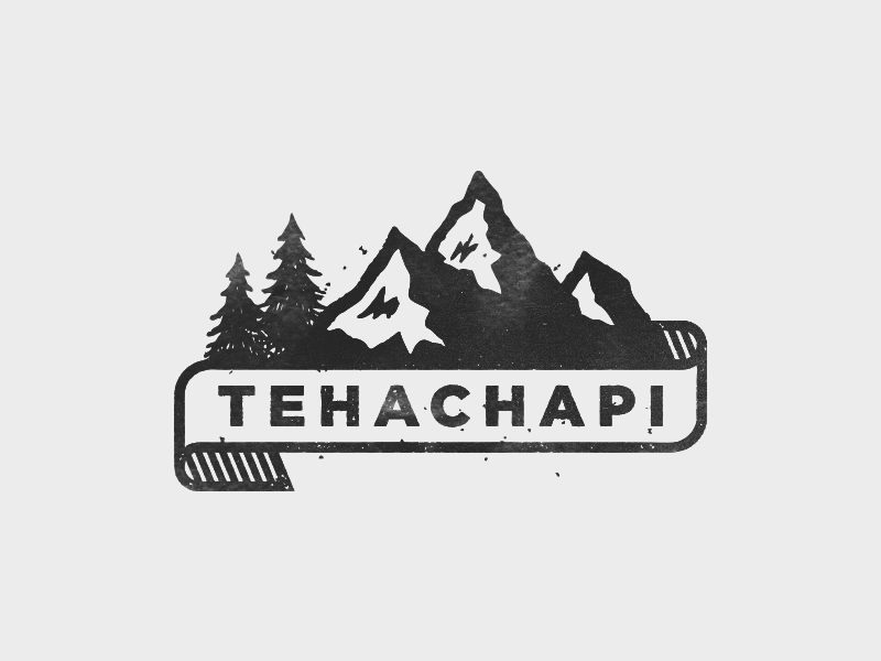 Tehachapi Again banner trees mountains logo branding