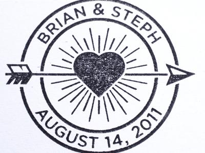 Wedding Stamp stamp heart arrow wedding