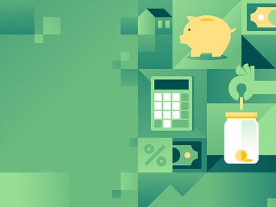 Savings down payment real estate home dollar calculator finance savings money