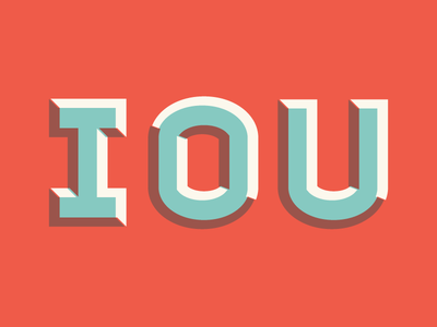 iou letters block sans bevel layered type typography