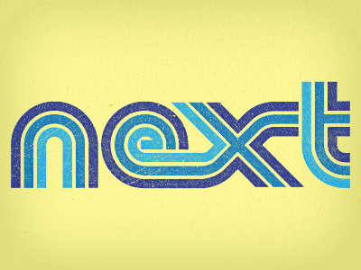 Next Shot logo type typography