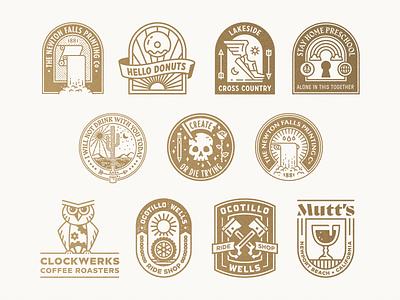 Badges lock up crest logo badge