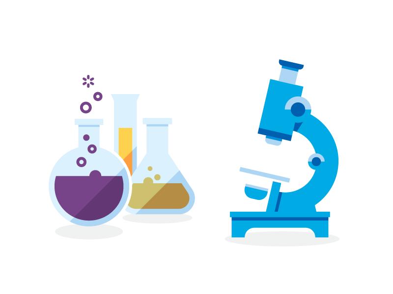 Science science lab beaker microscope chemistry biology illustration icon