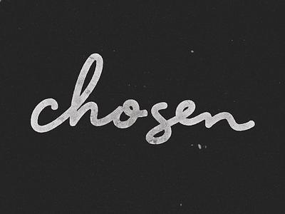 chosen type typography lettering script monoline