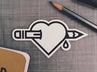 Heart & Design sticker