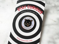Stay Curious Enamel Pin