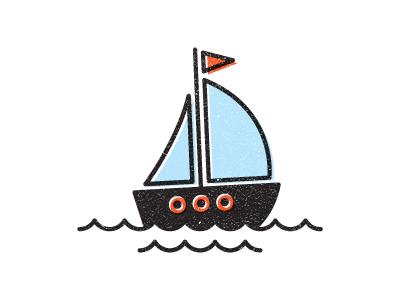 Sailboat sail boat logo ocean illustration
