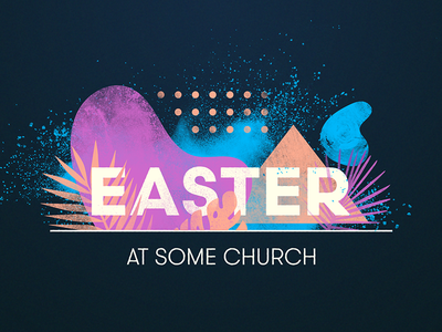 Easter neon palm church easter