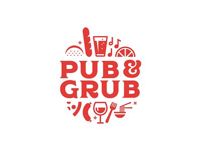Pub and Grub pizza beer festival food logo