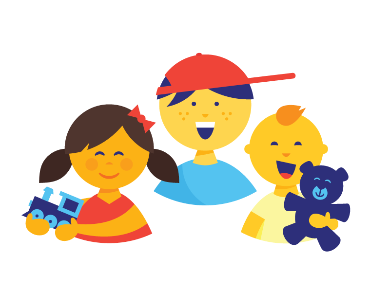 Kids these days. education toys icon illustration children child kid