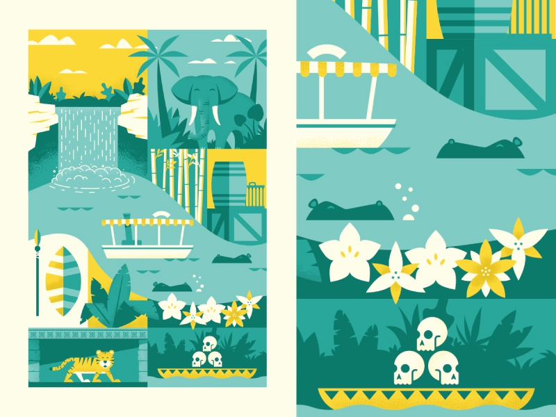 Jungle Cruise disney disneyland illustration print