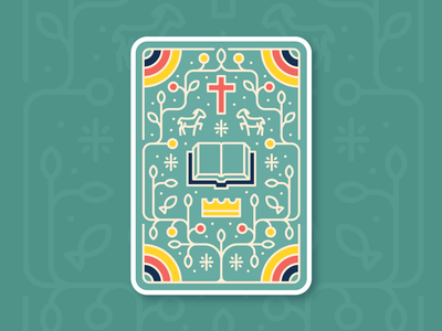 Card Game Design playing card bible vine icon illustration design